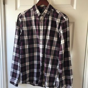 H&M FLANNEL! GREAT FIT! PURPLISH!